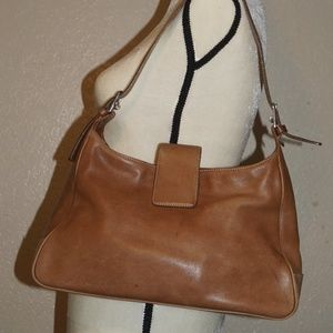 Coach Hampton Brown Leather Hobo Handbag